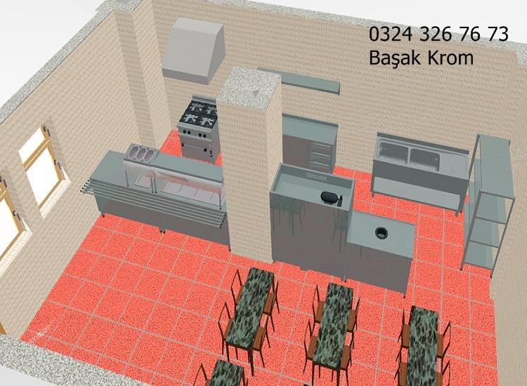 Proje 2 Endüstriyel Mutfak Çizimi
