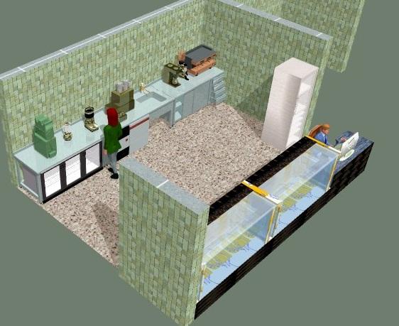 Endüstriyel mutfak proje resmi
